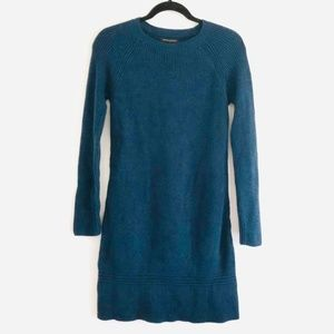 banana republic Knit Blue Sweater Midi Dress nwt
